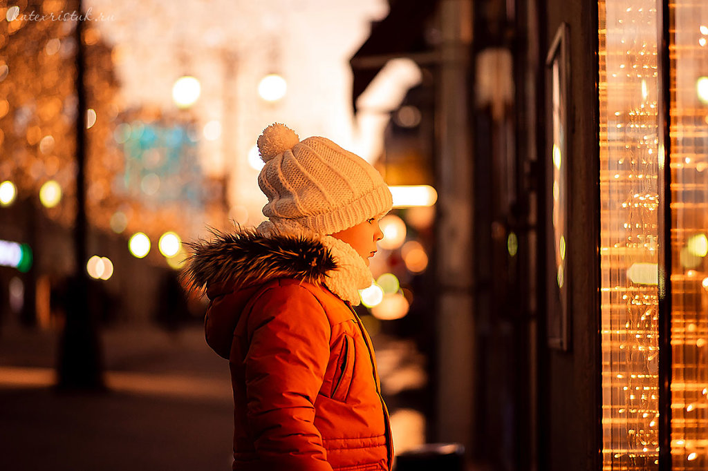 Новогодняя прогулка по вечерней Москве